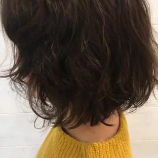 パーマ ミディアム 大人かわいい ゆるふわ ヘアスタイルや髪型の写真・画像 ヘアスタイルや髪型の写真・画像