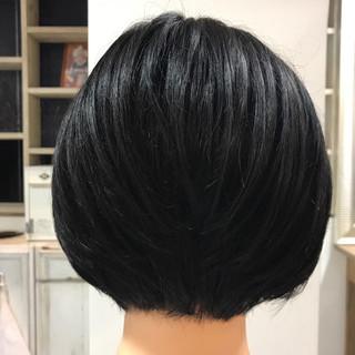 艶髪 就活 ショート 上品 ヘアスタイルや髪型の写真・画像
