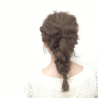 夏 ヘアアレンジ セミロング 大人かわいい ヘアスタイルや髪型の写真・画像 ヘアスタイルや髪型の写真・画像