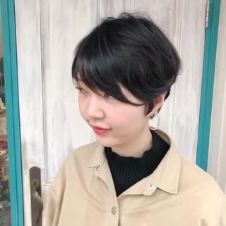 ナチュラル ショート 秋冬スタイル ショートヘア ヘアスタイルや髪型の写真・画像