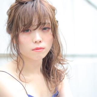 艶髪 透明感 ピュア ヘアアレンジ ヘアスタイルや髪型の写真・画像