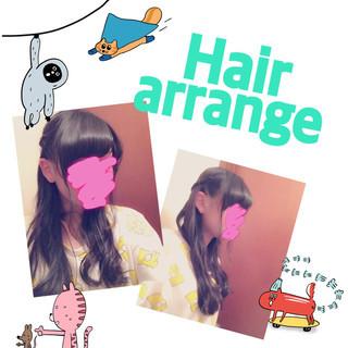 ゆるふわ ハーフアップ ショート ヘアアレンジ ヘアスタイルや髪型の写真・画像