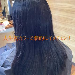 ヘアカラー ブルーラベンダー ガーリー ラベンダーカラー ヘアスタイルや髪型の写真・画像