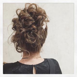 ヘアアレンジ 上品 エレガント パーティ ヘアスタイルや髪型の写真・画像