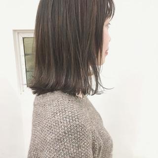 大人女子 小顔 ボブ ナチュラル ヘアスタイルや髪型の写真・画像