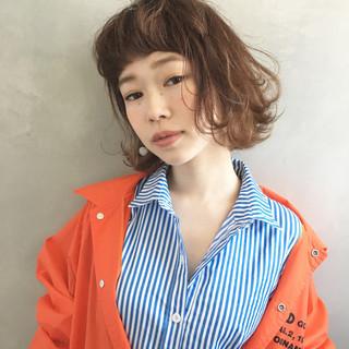 インナーカラー 外国人風 ボブ フェミニン ヘアスタイルや髪型の写真・画像