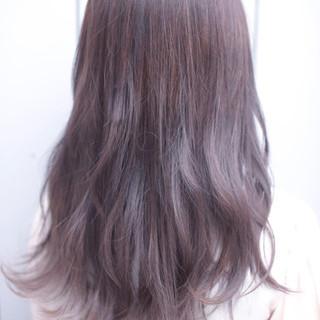 モード ロング ダブルカラー ヘアスタイルや髪型の写真・画像