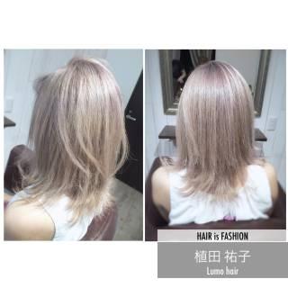 ハイトーン 外国人風 ミディアム 渋谷系 ヘアスタイルや髪型の写真・画像