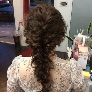 結婚式 ナチュラル 簡単ヘアアレンジ ヘアアレンジ ヘアスタイルや髪型の写真・画像