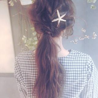 ロング ショート 夏 ヘアアレンジ ヘアスタイルや髪型の写真・画像 ヘアスタイルや髪型の写真・画像