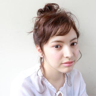 ナチュラル 簡単ヘアアレンジ 外国人風 セミロング ヘアスタイルや髪型の写真・画像 ヘアスタイルや髪型の写真・画像