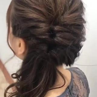 愛され フェミニン 透明感 セミロング ヘアスタイルや髪型の写真・画像