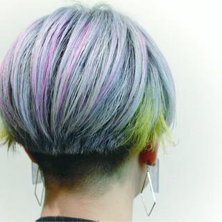 ショート マッシュ ピンク モード ヘアスタイルや髪型の写真・画像