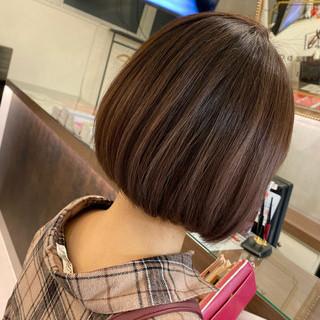 3Dハイライト バレイヤージュ グラデーションカラー ボブ ヘアスタイルや髪型の写真・画像