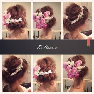 アップスタイル ヘアアレンジ ストリート 結婚式 ヘアスタイルや髪型の写真・画像 ヘアスタイルや髪型の写真・画像