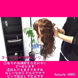 ヘアアレンジ ルーズ フェミニン ショート ヘアスタイルや髪型の写真・画像