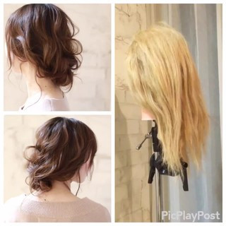 ヘアアレンジ 簡単ヘアアレンジ 結婚式 ショート ヘアスタイルや髪型の写真・画像