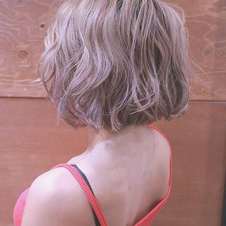 ヘアアレンジ バレイヤージュ ストリート ボブ ヘアスタイルや髪型の写真・画像