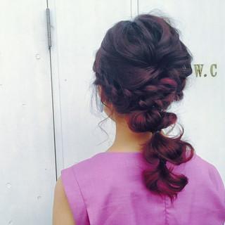 結婚式 簡単ヘアアレンジ 夏 女子会 ヘアスタイルや髪型の写真・画像