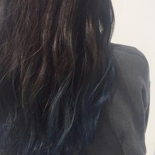 黒髪 グラデーションカラー 暗髪 ロング ヘアスタイルや髪型の写真・画像 ヘアスタイルや髪型の写真・画像