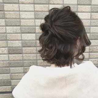 色気 ミルクティー デート ボブ ヘアスタイルや髪型の写真・画像