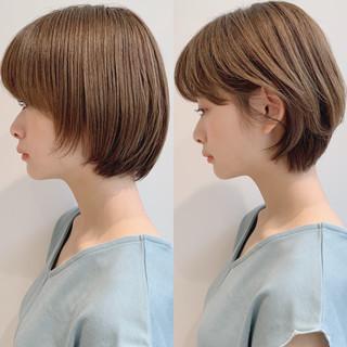 ボブ フェミニン オフィス デート ヘアスタイルや髪型の写真・画像