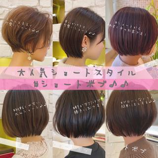 ショート 大人かわいい ショートヘア デート ヘアスタイルや髪型の写真・画像
