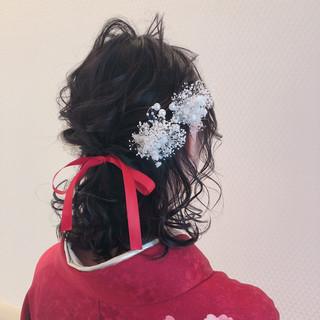 ヘアアレンジ 成人式ヘア ヘアセット 結婚式ヘアアレンジ ヘアスタイルや髪型の写真・画像
