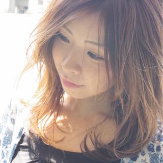 ミディアム 大人女子 涼しげ 大人かわいい ヘアスタイルや髪型の写真・画像