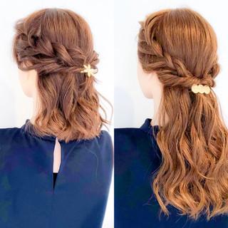アウトドア 結婚式 ヘアアレンジ 簡単ヘアアレンジ ヘアスタイルや髪型の写真・画像