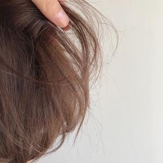 イルミナカラー 秋 ボブ ナチュラル ヘアスタイルや髪型の写真・画像