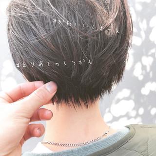 ナチュラル ショート イルミナカラー ミニボブ ヘアスタイルや髪型の写真・画像