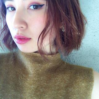 モード 外国人風 ボブ 色気 ヘアスタイルや髪型の写真・画像