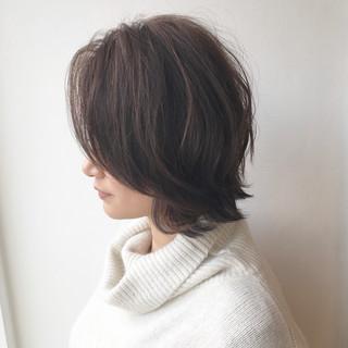 似合わせ ショート ショートボブ ナチュラル ヘアスタイルや髪型の写真・画像