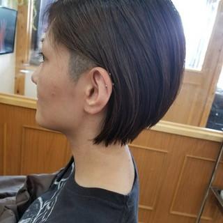 坊主 ストリート ボブ 大人女子 ヘアスタイルや髪型の写真・画像