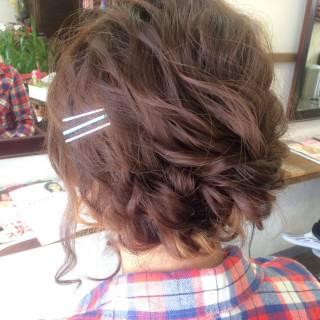 結婚式 ミディアム ヘアアレンジ 愛され ヘアスタイルや髪型の写真・画像