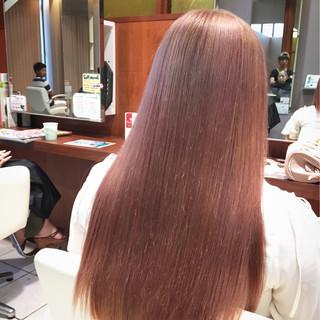 外国人風 ヘアアレンジ グラデーションカラー ピンク ヘアスタイルや髪型の写真・画像