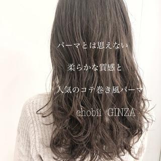 パーマ デジタルパーマ ゆるふわパーマ ヘアスタイル ヘアスタイルや髪型の写真・画像