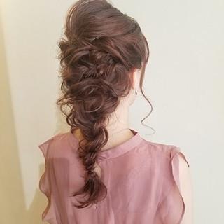 簡単ヘアアレンジ ガーリー デート 結婚式ヘアアレンジ ヘアスタイルや髪型の写真・画像