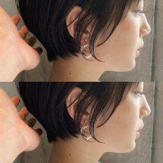 ショート 絶壁カバー 小顔 小顔ショート ヘアスタイルや髪型の写真・画像