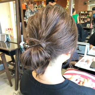 デート ミディアム 簡単ヘアアレンジ 透け感 ヘアスタイルや髪型の写真・画像