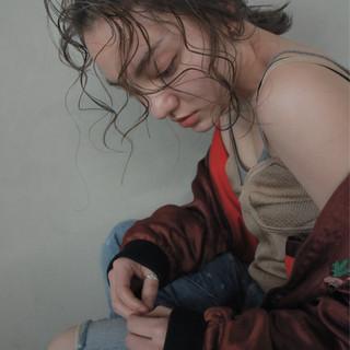 ウェットヘア アンニュイ ウェーブ ヘアアレンジ ヘアスタイルや髪型の写真・画像 ヘアスタイルや髪型の写真・画像
