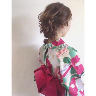 ロング 結婚式 夏 フェミニン ヘアスタイルや髪型の写真・画像