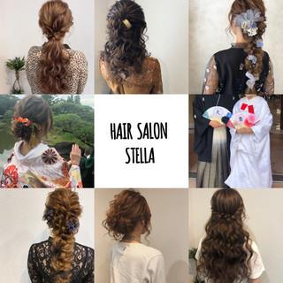 アップ お呼ばれヘア ヘアセット フェミニン ヘアスタイルや髪型の写真・画像