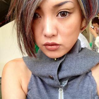 ウィッグ レイヤーカット ショート モード ヘアスタイルや髪型の写真・画像