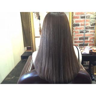 ブルージュ グレージュ 透明感 ストリート ヘアスタイルや髪型の写真・画像