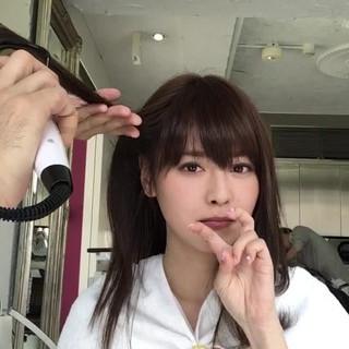 色気 女子会 斜め前髪 セミロング ヘアスタイルや髪型の写真・画像