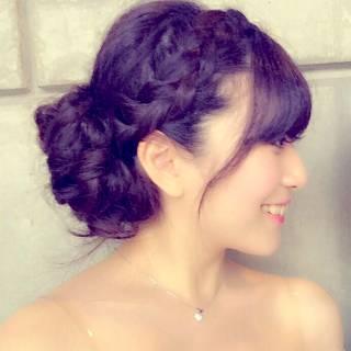 編み込み モテ髪 愛され コンサバ ヘアスタイルや髪型の写真・画像 ヘアスタイルや髪型の写真・画像