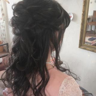 結婚式 エレガント ヘアアレンジ 大人かわいい ヘアスタイルや髪型の写真・画像
