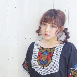 ミディアム 春スタイル 簡単ヘアアレンジ ヘアアレンジ ヘアスタイルや髪型の写真・画像